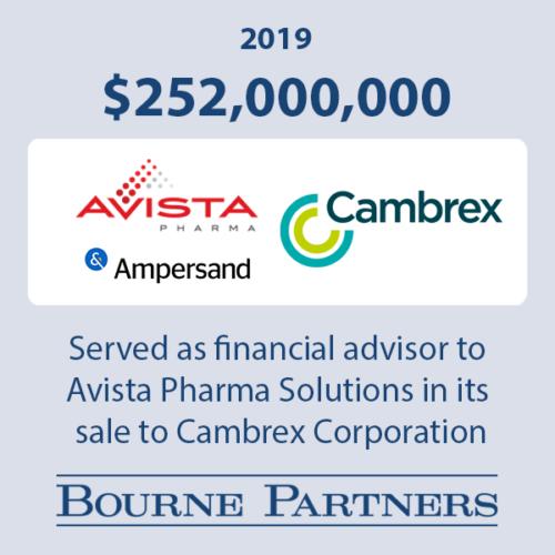 Avista Cambrex 1 500x500 - Investment Banking
