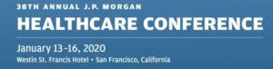 jpm 2 300x76 - 38th Annual J.P. Morgan Healthcare Conference